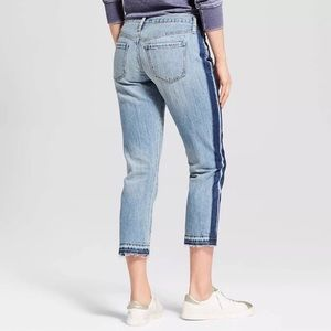 [Mossimo] Tux Stripe Crop BF Jeans, Light Wash
